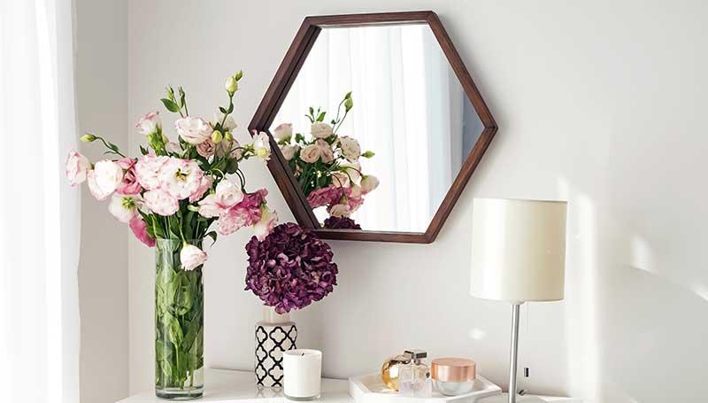 miroir-forme-hexagonale